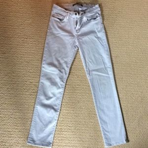 J Brand super light blue skinny crop jeans